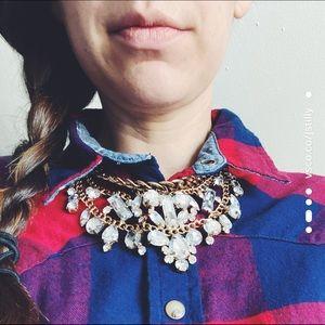 Layered Bauble Bib Necklace